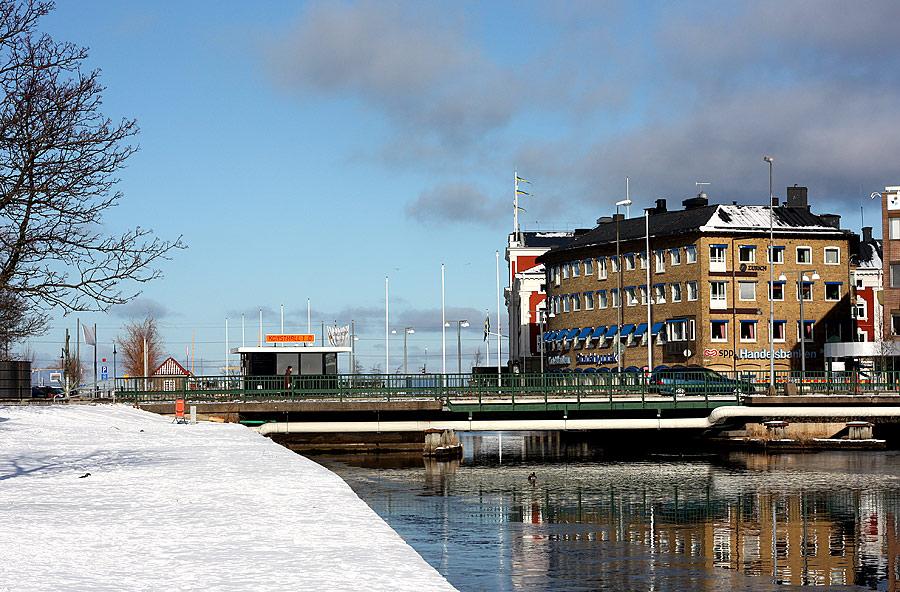 Hamnkanalen och konsthall 1.0 i centrala Jönköping (feb 2009)