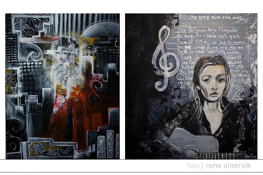 Christin Nordin, exempel på målningar. Bilden får inte kopieras, distribueras eller redigeras.