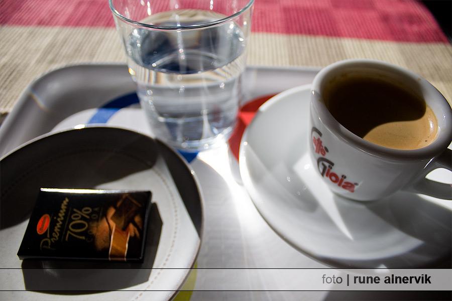 Espresso och mörk choklad