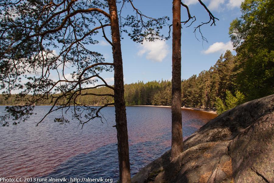 Lake Stora Trehörningen.