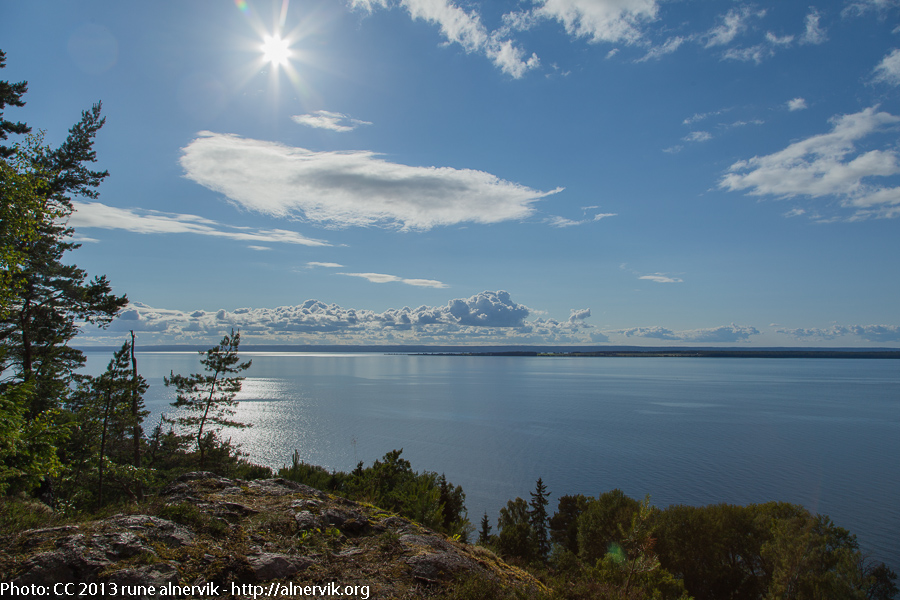 Lake Vättern and Visingsö Island.